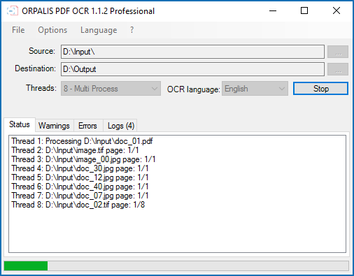 ORPALIS PDF OCR Pro Edition Screen shot