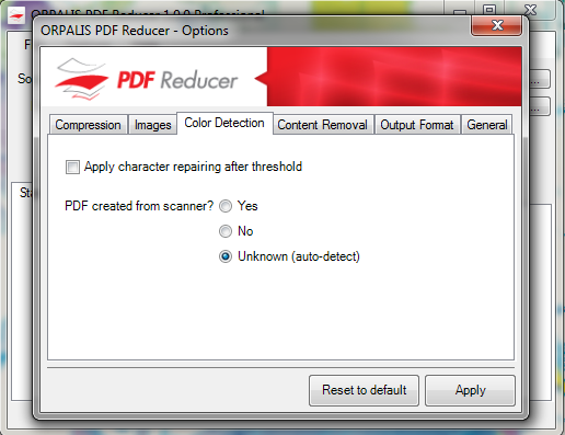 Click to view ORPALIS PDF Reducer Free screenshots
